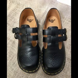 Dr. Martens Black Leather Mary Jane Shoes US 7/UK5